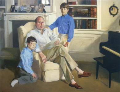 Portrait of Jeffrey Yass and sons 2000